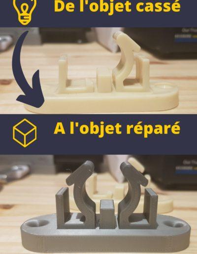 Réparation pièce plastique
